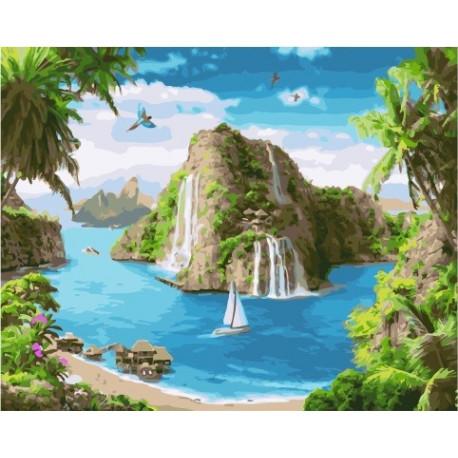 Райский уголок, картина по номерам на холсте 40х50см 28цв Original
