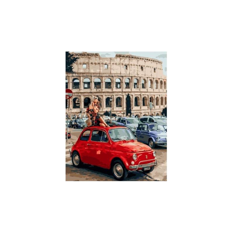 Наслаждаясь Римом, раскраска по номерам на холсте 40х50см ...