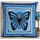 Бабочка(подушка), набор для вышивания крестиком, 36х36см, 4цвета Panna