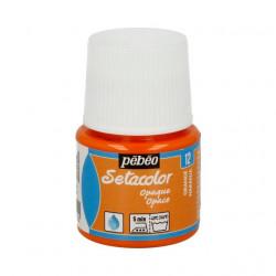 Оранжевый, краска для темных и светлых тканей Setacolor 45мл PEBEO краска по ткани