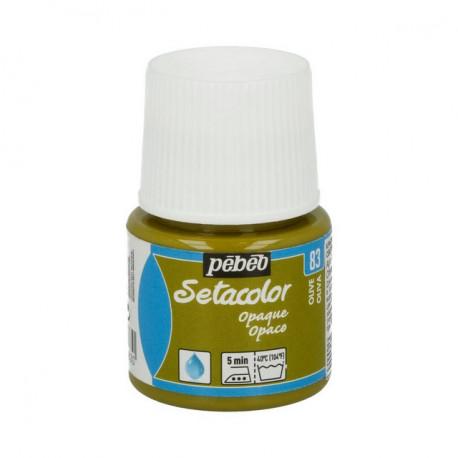 Оливковый, краска для темных и светлых тканей Setacolor 45мл PEBEO краска по ткани