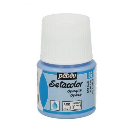 Небесно-голубой, краска для темных и светлых тканей Setacolor 45мл PEBEO краска по ткани
