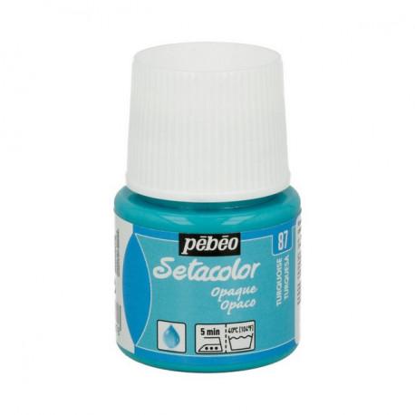 Бирюзовый, краска для темных и светлых тканей Setacolor 45мл PEBEO краска по ткани