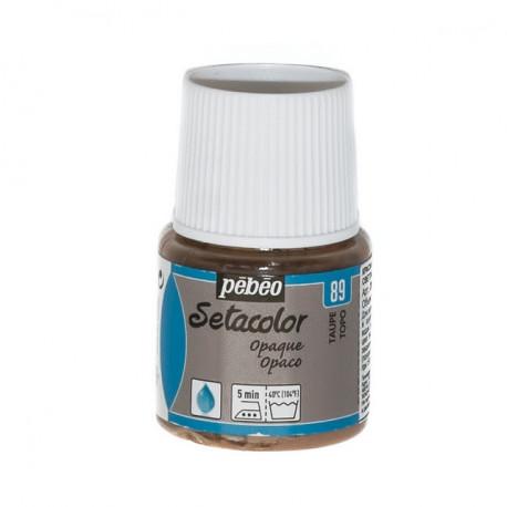 Серо-коричневый, краска для темных и светлых тканей Setacolor 45мл PEBEO краска по ткани