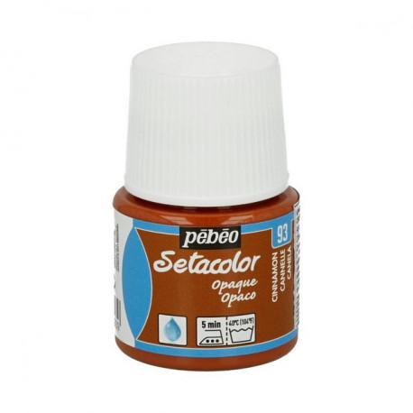 Корица, краска для темных и светлых тканей Setacolor 45мл PEBEO краска по ткани