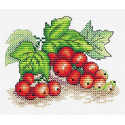 Красная смородина, набор для вышивания 9х11см 13цветов Жар-птица