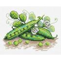 Зеленый горошек, набор для вышивания 9х11см 13цветов Жар-птица