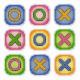 Крестики-нолики.Магниты, набор для вышивания 4х4см(9шт) 13цветов Жар-птица