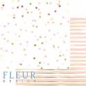 Нежное конфетти, коллекция Pretty pink, бумага для скрапбукинга 30x30см, 190г/м Fleur Design