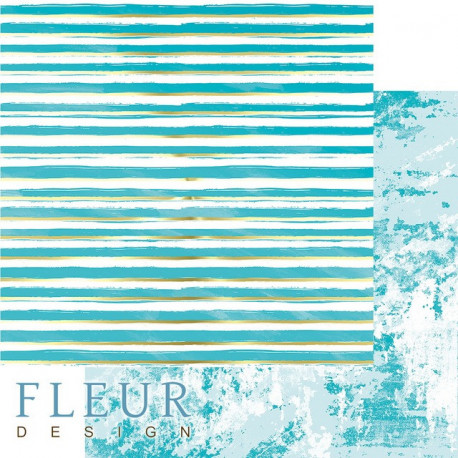 Жизнь в цветах, коллекция Pretty tiffany, бумага для скрапбукинга 30x30см, 190г/м Fleur Design