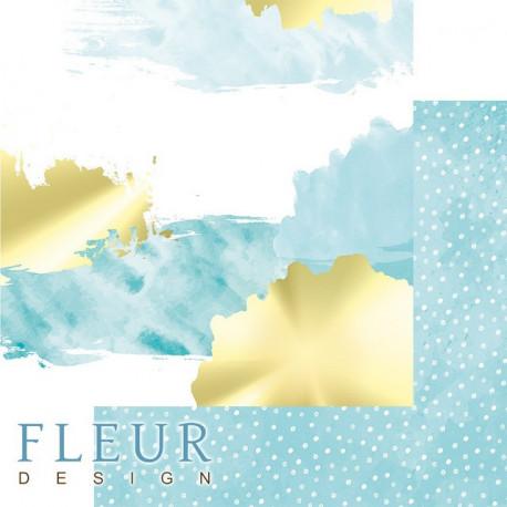Акварель в тиффани, коллекция Pretty tiffany, бумага для скрапбукинга 30x30см, 190г/м Fleur Design