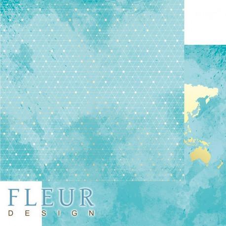 Блестящая сеть, коллекция Pretty tiffany, бумага для скрапбукинга 30x30см, 190г/м Fleur Design