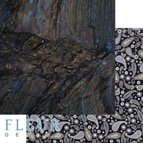 Дерево, коллекция Мистер Грэй, бумага для скрапбукинга 30x30см, 190г/м Fleur Design