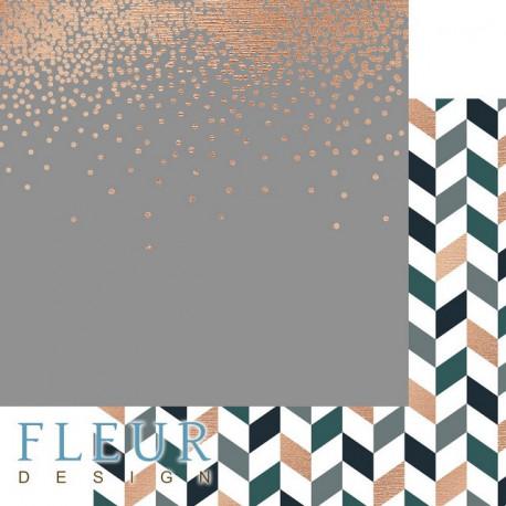 Успех, коллекция Мистер Грэй, бумага для скрапбукинга 30x30см, 190г/м Fleur Design