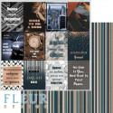 Карточки, коллекция Мистер Грэй, бумага для скрапбукинга 30x30см, 190г/м Fleur Design