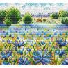 Васильковое поле, набор для вышивания 10х11см 18цветов Жар-птица