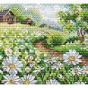 Летнее раздолье, набор для вышивания 10х11см 17цветов Жар-птица