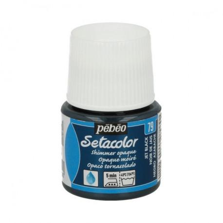 Насыщенный черный, мерцающая краска для темных и светлых тканей Setacolor 45мл PEBEO краска по ткани