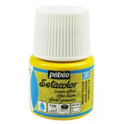 Желтый яркий, с эффектом замши краска для темных и светлых тканей Setacolor 45мл PEBEO по ткани +t!