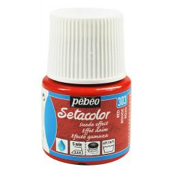 Красный, с эффектом замши краска для темных и светлых тканей Setacolor 45мл PEBEO краска по ткани +t