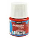 Красный, с эффектом замши краска для темных и светлых тканей Setacolor 45мл PEBEO краска по ткани