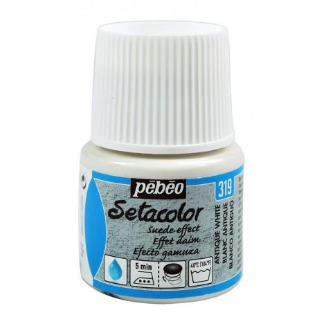 Белый античный, с эффектом замши краска для темных и светлых тканей Setacolor 45мл PEBEO по ткани +t