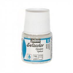 Белый, краска для темных и светлых тканей Setacolor 45мл PEBEO краска по ткани
