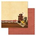 Бодрое утро, коллекция Магия кофе, бумага для скрапбукинга 30,5x30,5см 180г/м ScrapMania