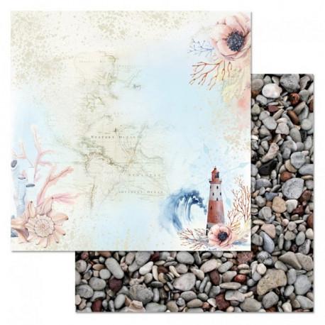 Маяк, коллекция Море, я скучала, бумага для скрапбукинга 30,5x30,5см 180г/м ScrapMania