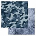 Форма, коллекция Армейский альбом, бумага для скрапбукинга 30,5x30,5см 180г/м ScrapMania