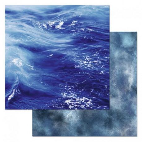 Синее море, коллекция Армейский альбом, бумага для скрапбукинга 30,5x30,5см 180г/м ScrapMania