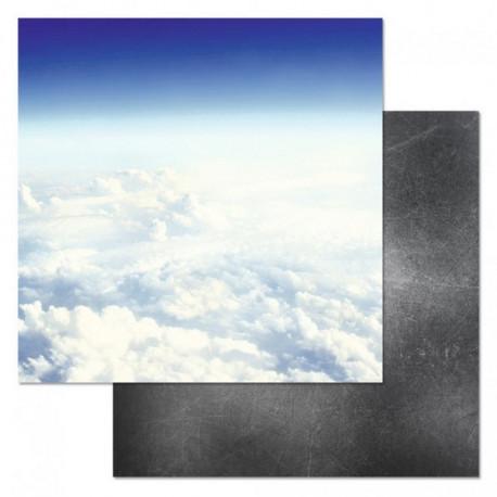 Чистое небо, коллекция Армейский альбом, бумага для скрапбукинга 30,5x30,5см 180г/м ScrapMania