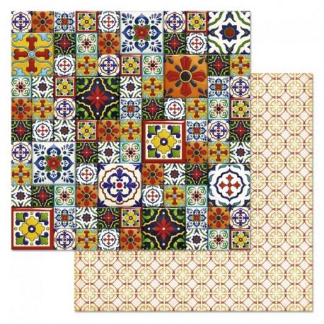 Плитка, коллекция Сердце востока, бумага для скрапбукинга 30,5x30,5см 180г/м ScrapMania