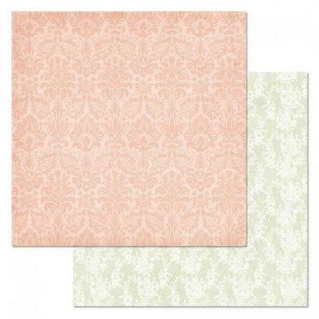 Мотив, коллекция Фономикс.Свадебный букет, бумага для скрапбукинга 30,5x30,5см 180г/м ScrapMania
