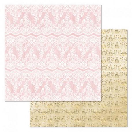 Дамаск, коллекция Фономикс.Свадебный букет, бумага для скрапбукинга 30,5x30,5см 180г/м ScrapMania