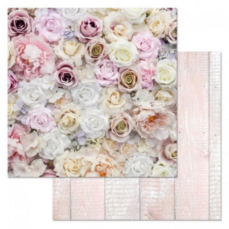Розы, коллекция Фономикс.Свадебный букет, бумага для скрапбукинга 30,5x30,5см 180г/м ScrapMania