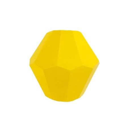 Желтый, бусины стеклянные на нити граненые в форме биконуса 34шт 4х4мм, Zlatka