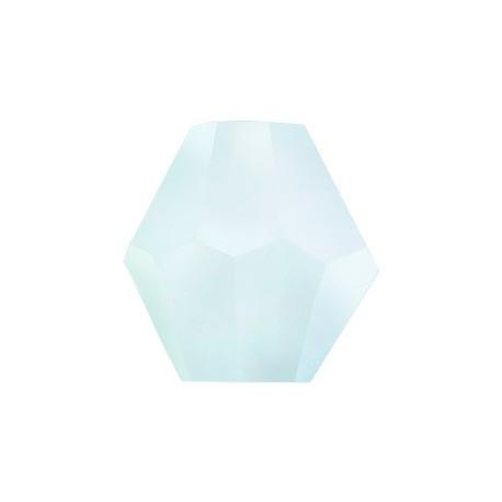 Мятный, бусины стеклянные на нити граненые в форме биконуса 34шт 4х4мм, Zlatka