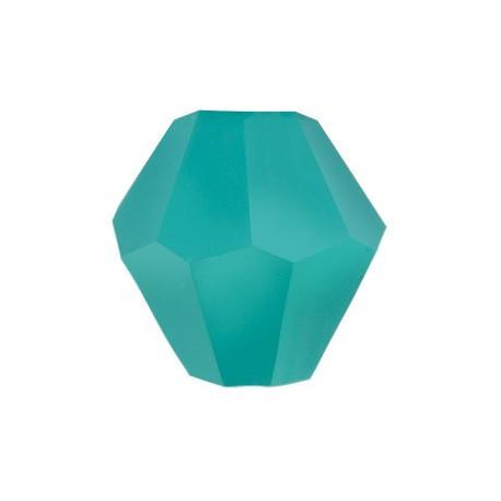 Голубой, бусины стеклянные на нити граненые в форме биконуса 34шт 4х4мм, Zlatka