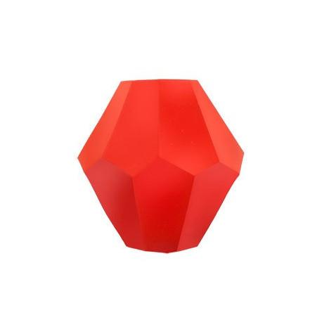 Оранжевый, бусины стеклянные на нити граненые в форме биконуса 22шт 6х6мм, Zlatka
