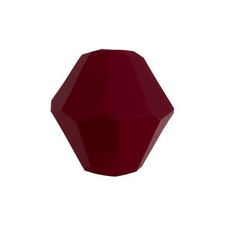 Бордовый, бусины стеклянные на нити граненые в форме биконуса 22шт 6х6мм, Zlatka