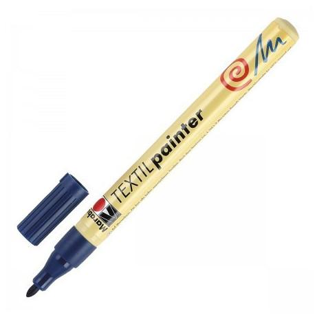 Синий, маркер по ткани 1-2мм Textil Marabu