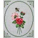 Элегия, набор для вышивания крестиком и лентами, 14х19см, 5+5цветов Panna