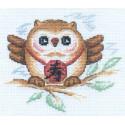 Сова (мудрость и долголетие), набор для вышивания крестиком 16х14см 14цветов Panna