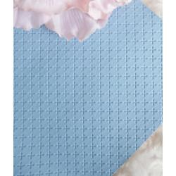 Голубой крестик, кожа искусственная 33х69(±1см)