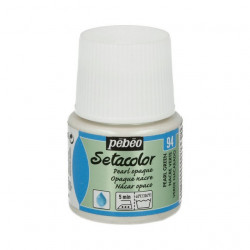 Зеленый, перламутровая краска для темных и светлых тканей Setacolor 45мл PEBEO по ткани