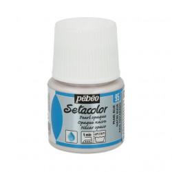 Голубой, перламутровая краска для темных и светлых тканей Setacolor 45мл PEBEO по ткани