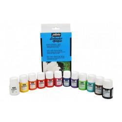 Набор красок для темных и светлых тканей Setacolor 12цветов по 20мл PEBEO краска по ткани +t!