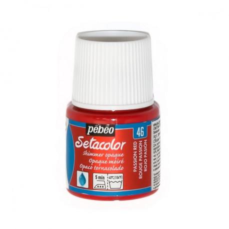 Страстный красный, мерцающая краска для темных и светлых тканей Setacolor 45мл PEBEO краска по ткани