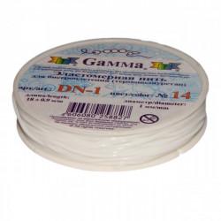 Белый, резинка для бисера 1 мм 18 м, GAMMA